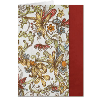 pretty flowers with Red Side Color Card
