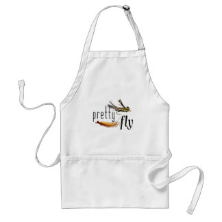 Pretty Fly, Funny Fishing Design (all colours) Aprons