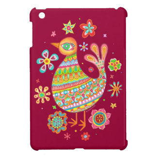 Pretty Folk Art Bird iPad Mini Case