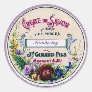 Pretty French Vintage Savon Label Custom Purple