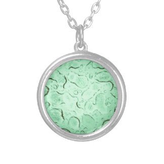 Pretty Frozen Drops on Glass Color Swap Silver Plated Necklace