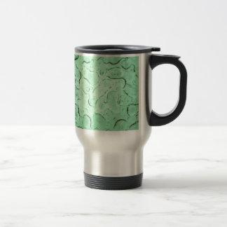 Pretty Frozen Drops on Glass Color Swap Travel Mug