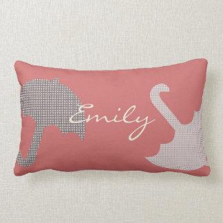 Pretty Funny Umbrella Add Text  Pink Pillow