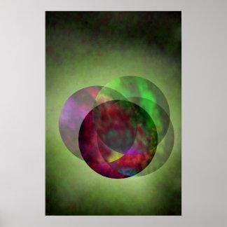 Pretty Galaxy Green Poster