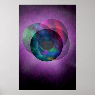Pretty Galaxy Purple Poster