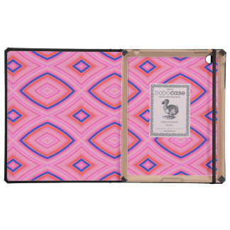 Pretty Geometric in Mostly Pink Cover For iPad