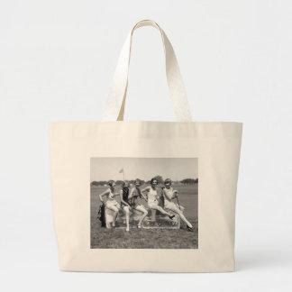 Pretty Girl Golfers, 1920s Jumbo Tote Bag