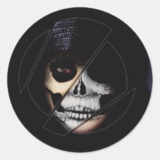 Pretty Girl Skeleton Sticker by #artfuloasis