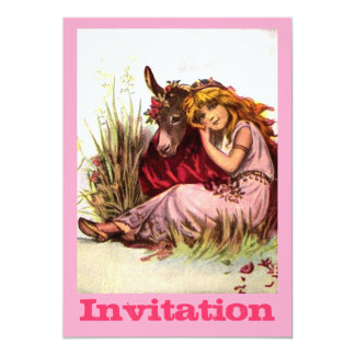 Pretty Girl With Pony 13 Cm X 18 Cm Invitation Card