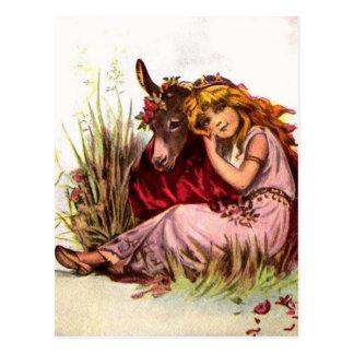 Pretty Girl With Pony Postcard