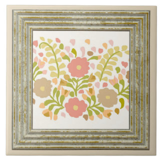 Pretty Girly Flowers Ceramic Tile