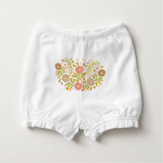 Pretty Girly Flowers In Multicolors Nappy Cover