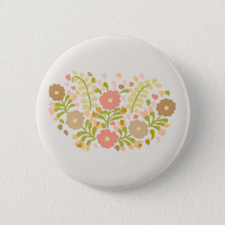 Pretty Girly Flowers In Pastels 6 Cm Round Badge