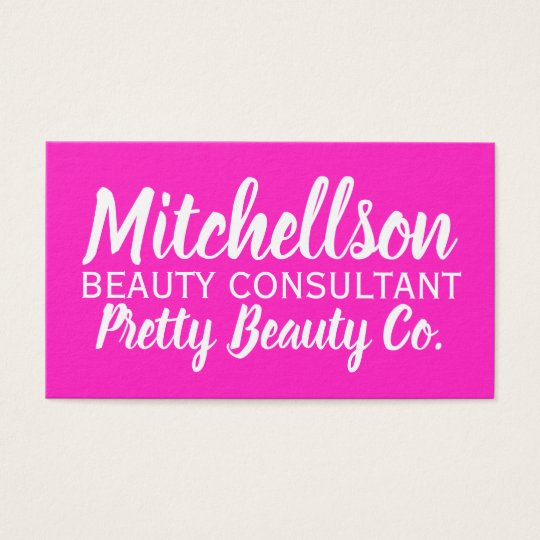Pretty Girly Pink Business Card