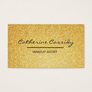 Pretty Gold Glitter Sparkle, Makeup Artist Business Card