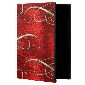 Pretty Gold Swirls With Holly & Berries Powis iPad Air 2 Case