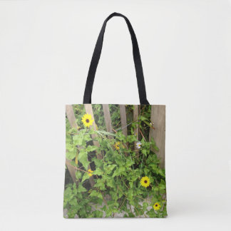 Pretty Golden Yellow Beach Flowers Tote Bag