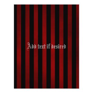 Pretty goth stripes background 21.5 cm x 28 cm flyer