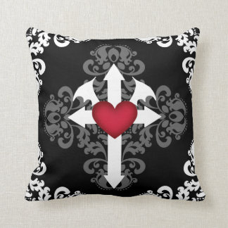Pretty Gothic cross Cushion