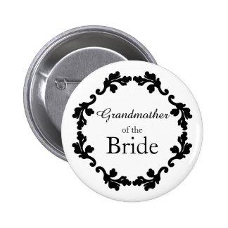 Pretty Grandmother of the Bride 6 Cm Round Badge