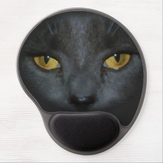 Pretty Gray Kitty Cat and Mousepad Gel Mouse Pad