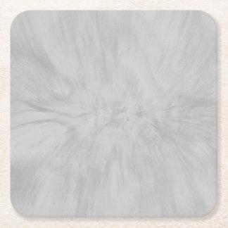 Pretty Gray Splash Square Paper Coaster