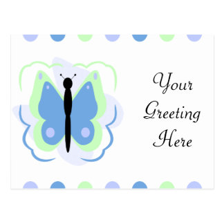 Pretty Green And Blue Butterfly Postcard