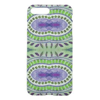 Pretty green blue leaf pattern iPhone 7 plus case