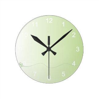 Pretty Green Gradient Round Clock