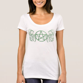 Pretty green pentacle fluer T-Shirt