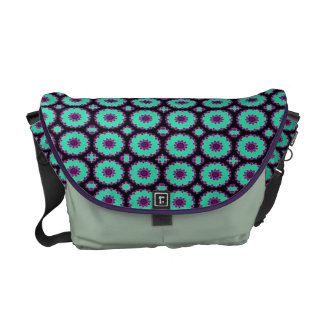 pretty green purple fancy circles courier bags