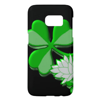 pretty green shamrock white flower
