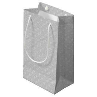 Pretty grey and white design small gift bag