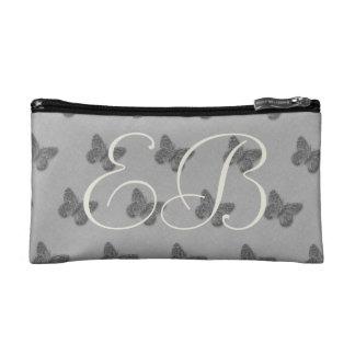 Pretty Grey Butterflies Add Initials Bag