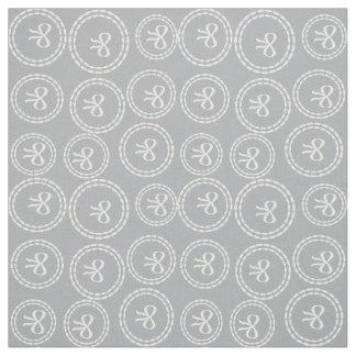 Pretty Grey Harbor Mist Bow Rings Pattern Fabric