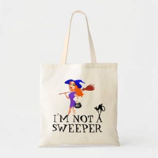 Pretty Halloween Witch Not A Sweeper Tote Bag