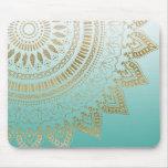 Pretty hand drawn tribal mandala elegant design mouse pad
