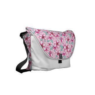 Pretty hawaiian cherry blossoms messenger bag