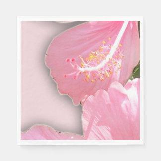 Pretty Hawaiian Pink Plumeria Flowers Napkin Paper Napkin