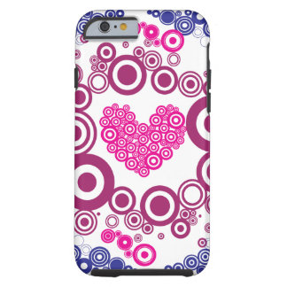 Pretty Heart Concentric Circles iPhone 6 Case