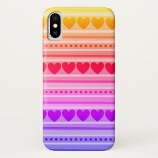 Pretty Heart Pattern on Barely There iPhone Case