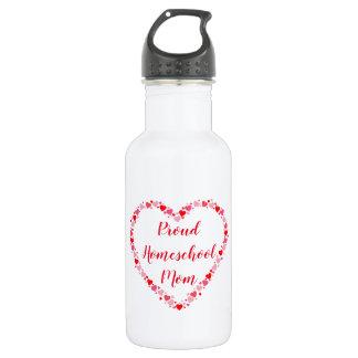 Pretty Hearts for a Proud Homeschool Mom 532 Ml Water Bottle