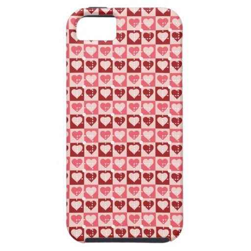 Pretty Hearts in Squares Valentine's Day Gifts iPhone 5 Covers