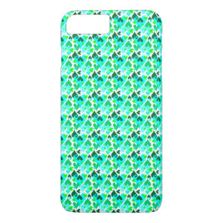 Pretty Hearts Pattern Mobile Case Green