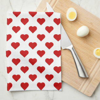Pretty Hearts Tea Towel