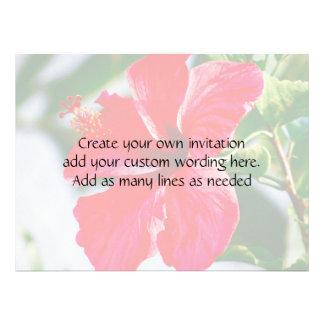 Pretty Hibiscus Wedding Custom Invitation