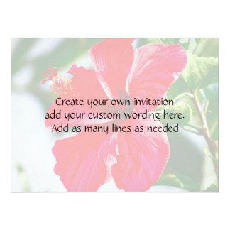Pretty Hibiscus Wedding 17 Cm X 22 Cm Invitation Card