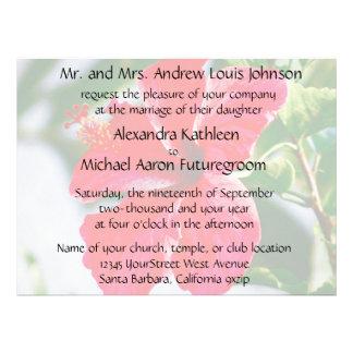 Pretty Hibiscus Wedding Invitation