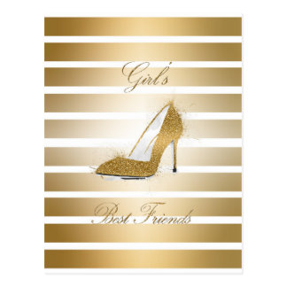 "Pretty High heels shoe ""Girls best Friends"" Postcard"