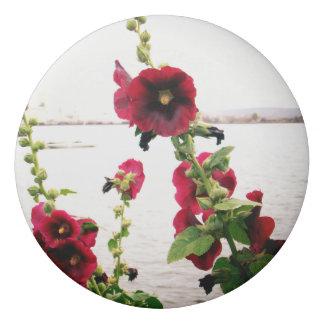 Pretty Hollyhock Floral Eraser
